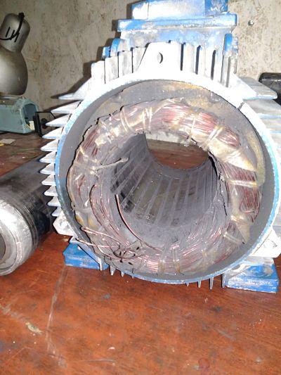 горелый мотор