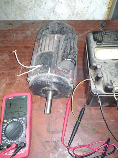 асинхронный двигатель в сборе